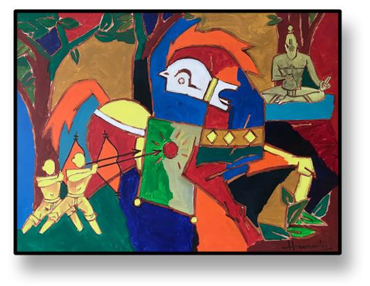 artpodium - MF Husain Painting